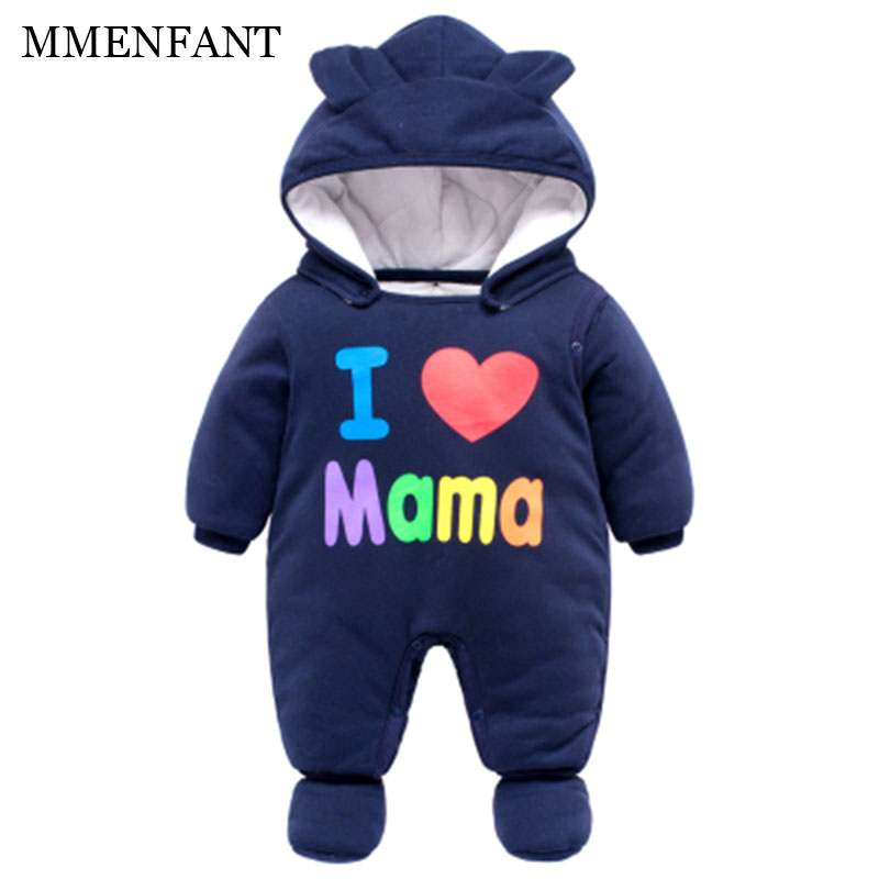 High Quality Baby Rompers Winter Thick Cotton Boys Costume Girls Warm Clothes Kid Jumpsuit Children Outerwear newborn Wear 0-24M 2017 new baby winter romper cotton padded thick newborn baby girl warm jumpsuit autumn fashion baby s wear kid climb clothes