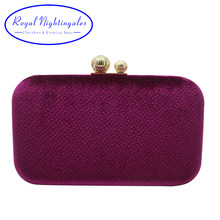 6817860c40 Royal Nightingales Oversize Vlevet Hard Box Evening Bags Evening Clutches  and Handbags for Womens Red