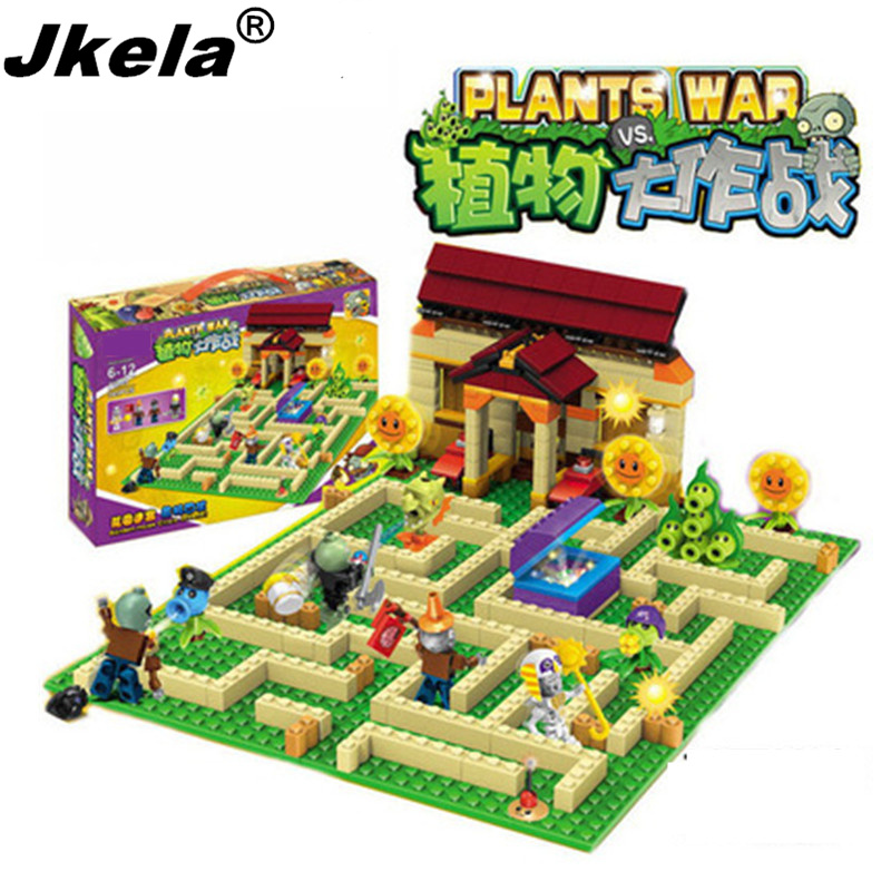 [Jkela] New plants vs zombies struck game toy action toy & figures Building Blocks Bricks Compatible Legoing my world minecraft new arrival plants vs zombies plush toys 30cm pvz zombies soft stuffed toy doll game figure statue for children gifts party toys