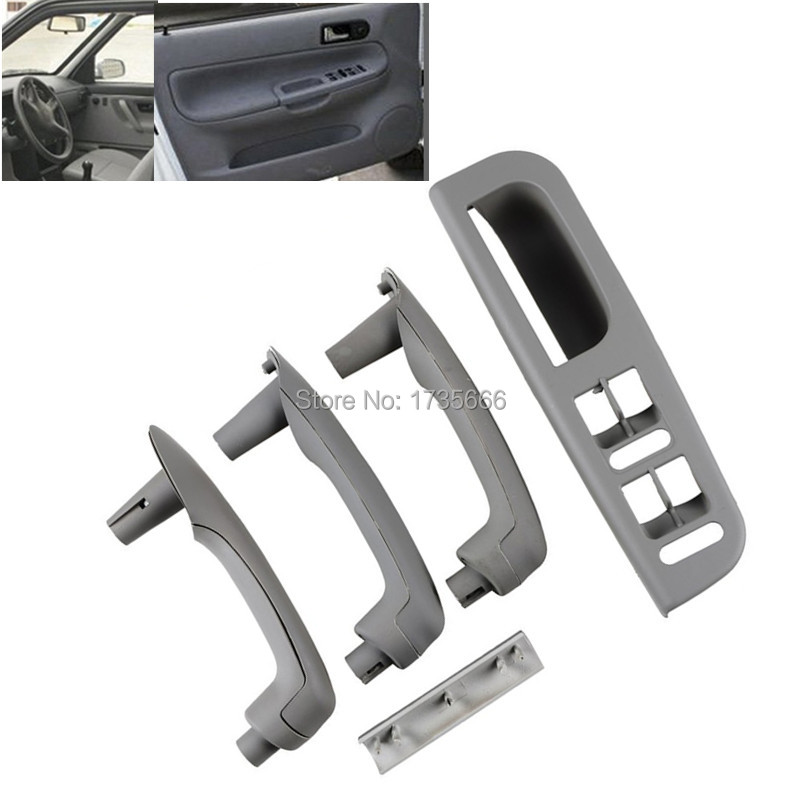 Set Gray Auto Car Interior Door Grab Handle Cover Switch