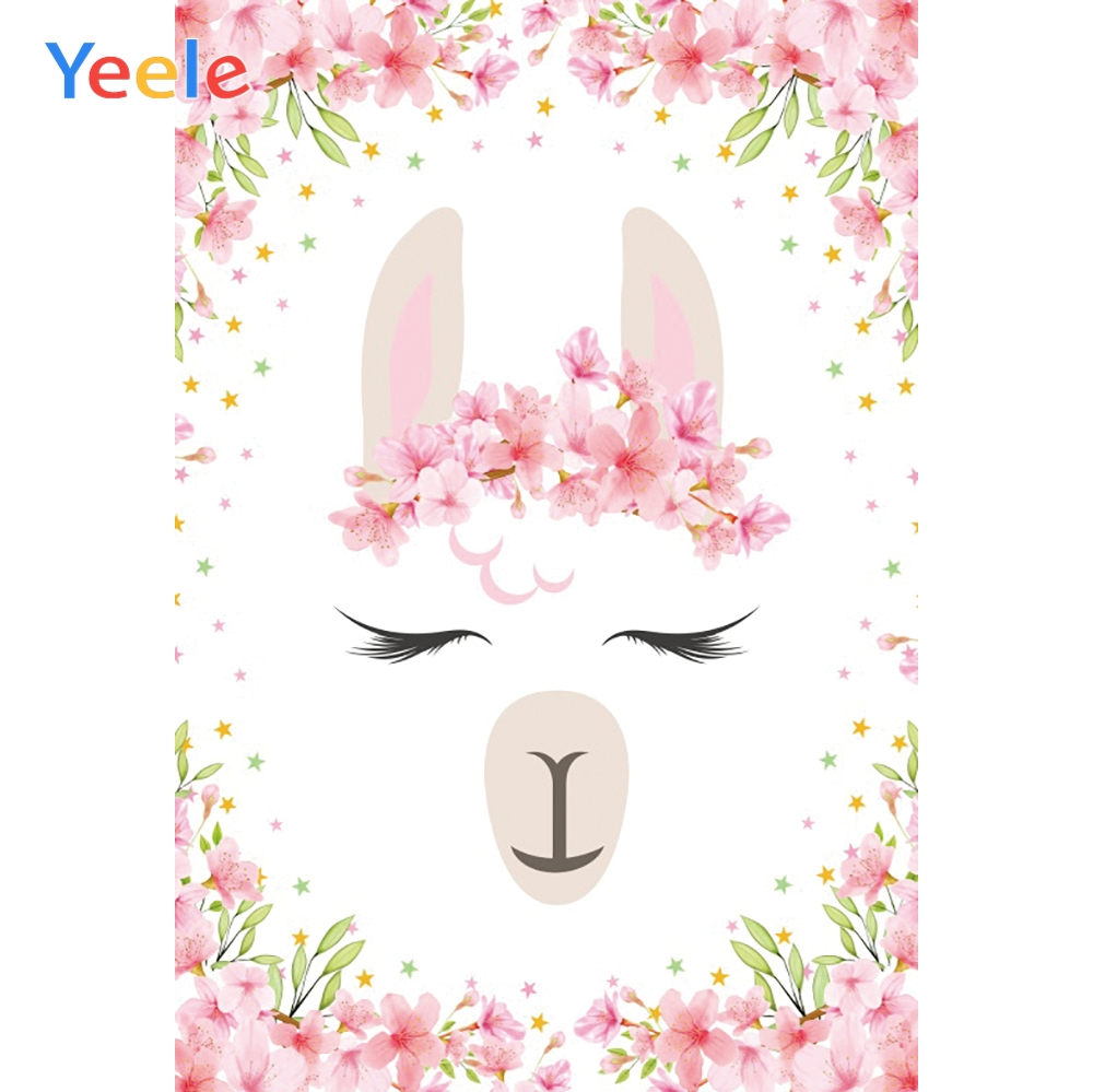 Yeele Alpaca Lace Flower Baby Shower Photography Backgrounds Birthday Personalized Party Photographic Backdrops For Photo Studio in Background from Consumer Electronics