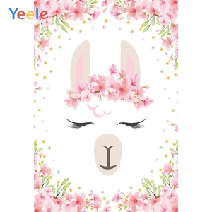Yeele Alpaca Lace Flower Baby Shower Photography Backgrounds Birthday Personalized Party Photographic Backdrops For Photo Studio