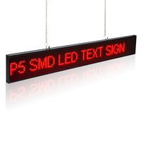 82CM SMD P5 Indoor Window Wireless LED Sign Red Scrolling Message display Board Usb and cell phone WiFi editing message
