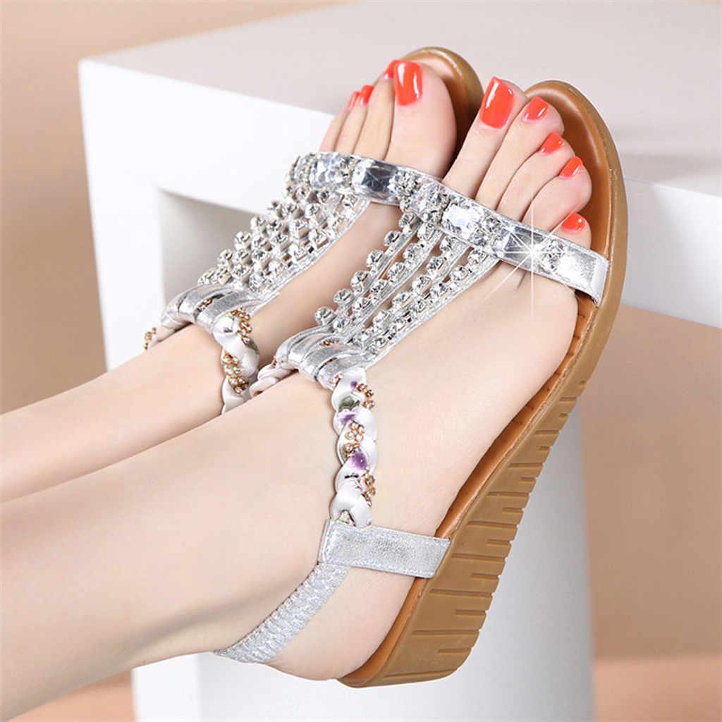 รองเท้าสตรี Gladiator Wedges รองเท้าแตะ sandalias botas เปิดนิ้วเท้าข้อเท้ารองเท้าส้นสูง Bling งานแต่งงานรองเท้าฤดูร้อนปั๊ม