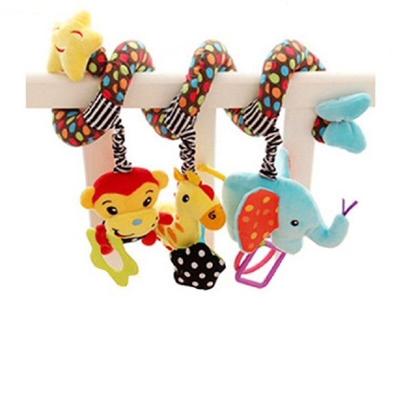 חמוד תינוק קריקטורה קוף ג 'ירפה פיל צעצועים מוסיקלי עריסה מוביילים בייבי השכלה מוקדמת צעצוע לילדים רולר פעילות העגלה צעצוע