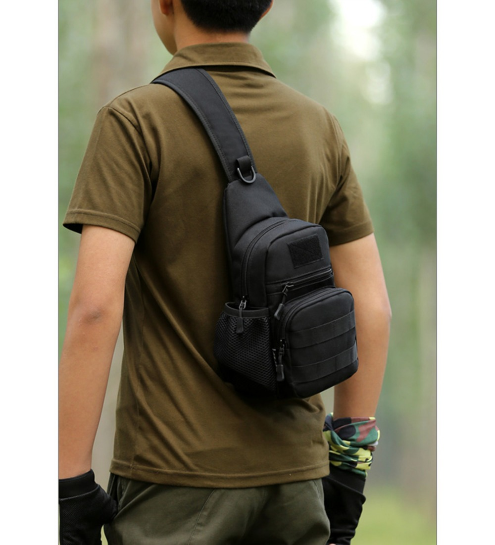 Responsible Men 1000d Nylon Chest Back Day Pack Sling Rucksack Military Designer Travel Assault Shoulder Cross Body Waterproof Kettle Bags Easy To Use Camping & Hiking Climbing Bags