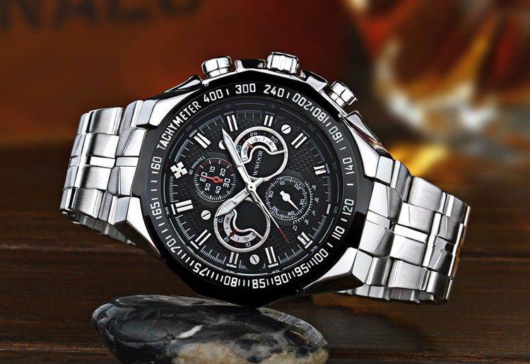 The New WWOOR Luxury Brand Men's Watches Stainless Steel Strap Sports Waterproof Watch Relogio Male Quartz Watch Leisure Watch 11