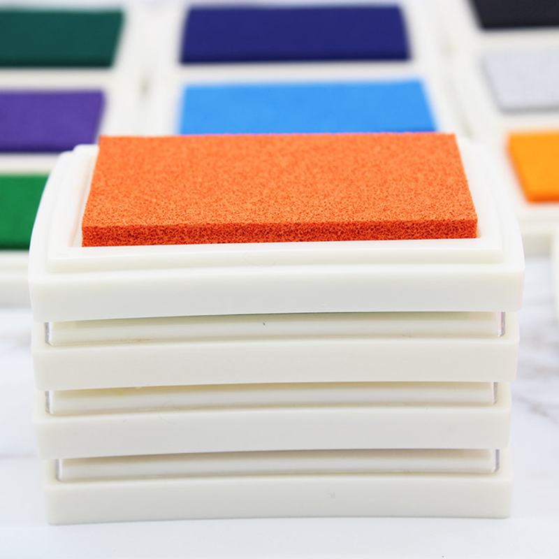 15 اللون الحرفية النفط أساس DIY مختمة للمطاط طوابع النسيج ورق خشب سكرابوكينغ Inkpad المحددة محبرة لأخذ بصمة الإصبع الطفل هدية