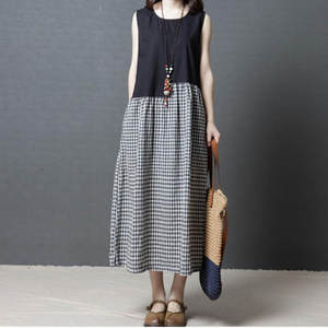 3729c39ebaf JAYCOSIN Women s summer dress Plaid Loose Casual female
