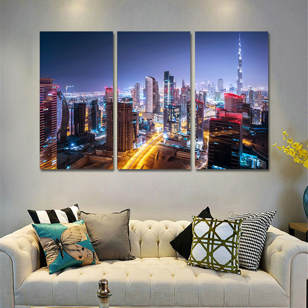 mordern canvas pictures for living room citys canvas painting canvas painting unframed poster. Black Bedroom Furniture Sets. Home Design Ideas