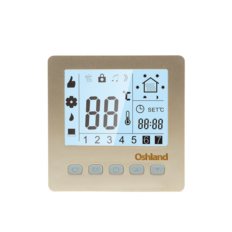 Free Shipping Golden Color 16A Digital Thermostat Programmable LCD Temperature Controller For Undefloor Heating