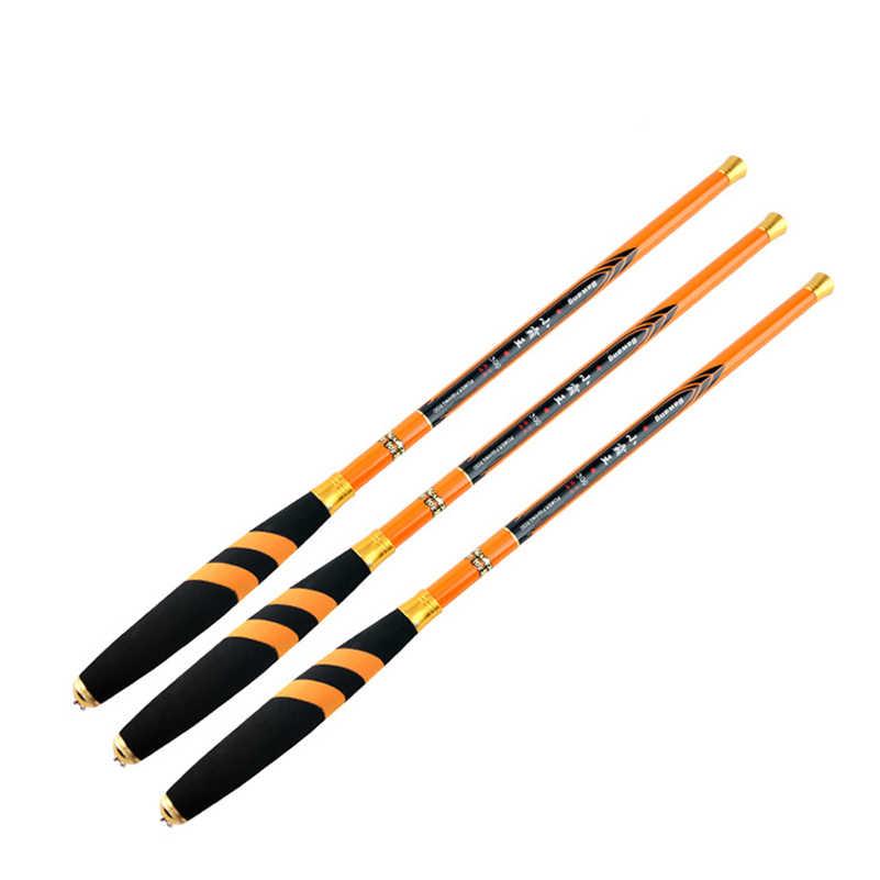 YUYU 1,8 M 2,1 m 2,4 m 2,7 m 3,0 m 3,6 m 4,5 m 5,4 m удочка для проточной ловли из углеродного волокна короткая Удочка ультра легкая удочка для ловли карпа