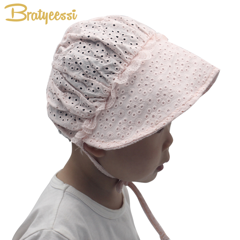 1d98f5f50d6 Princess Baby Girl Hat Summer Lace up Cotton Baby Bonnet Enfant Lace Sun Cap  for 0 18M Pink White-in Hats   Caps from Mother   Kids on Aliexpress.com ...