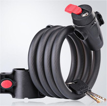 WHEEL UP Bicycle 5 Letters Code Lock Anti Theft For MTB Road Password Steel Wire Security Bike 1.2m 1.5m 1.8m