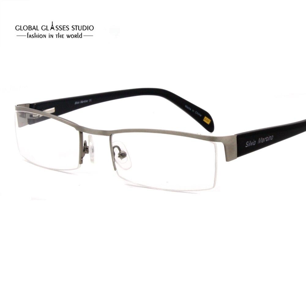 Klassische Design Halbbild Männer Edelstahl Brillen Optische Rahmen ...