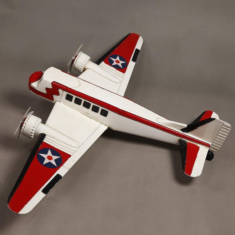 120 cm large color model plane Props Color tin model airplane Window decoration decorative handicrafts model aircraft