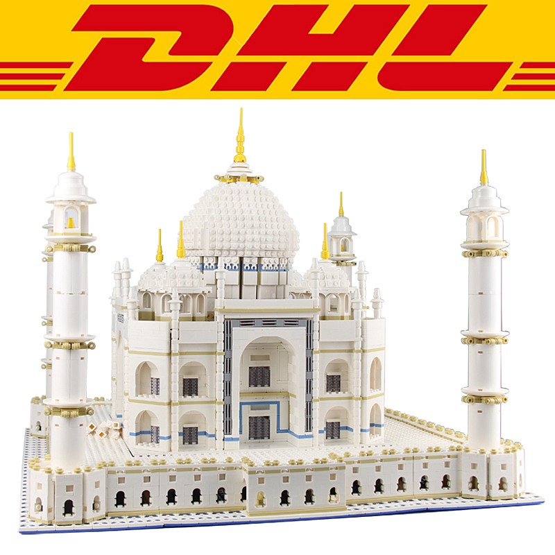 2017 New CIty Street Series The Taj Mahal 5952Pcs Model Building Kits Blocks Bricks Toys For Children Gift Compatible 10189 10646 160pcs city figures fishing boat model building kits blocks diy bricks toys for children gift compatible 60147