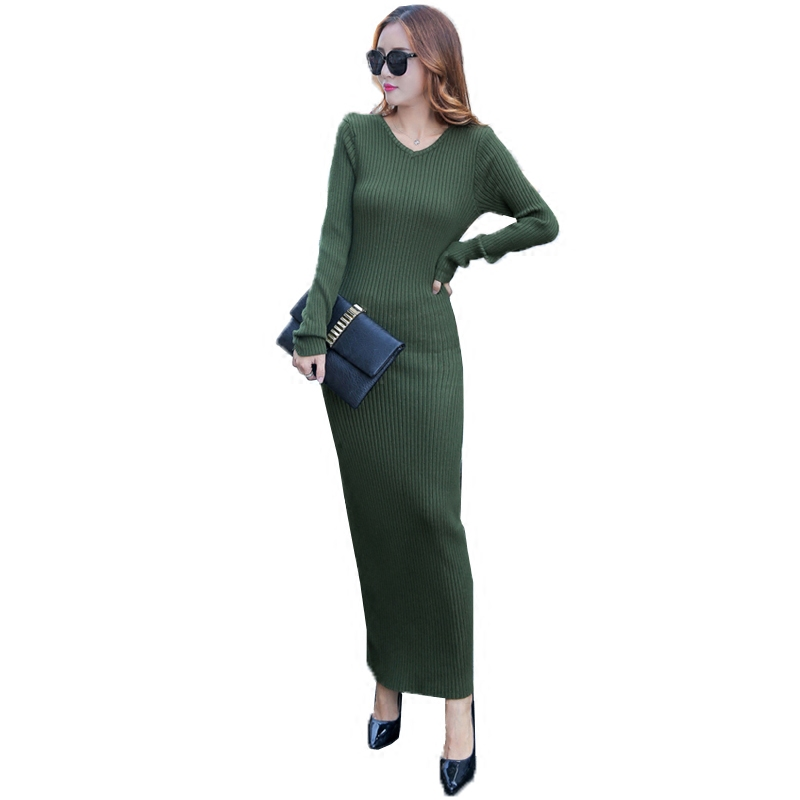 d648eb35b2646 Detail Feedback Questions about Women sweater dress New autumn winter ultra long  sexy Lurex Bodycon Dresses Elastic Skinny twinkle Knitted Dress vestidos ...