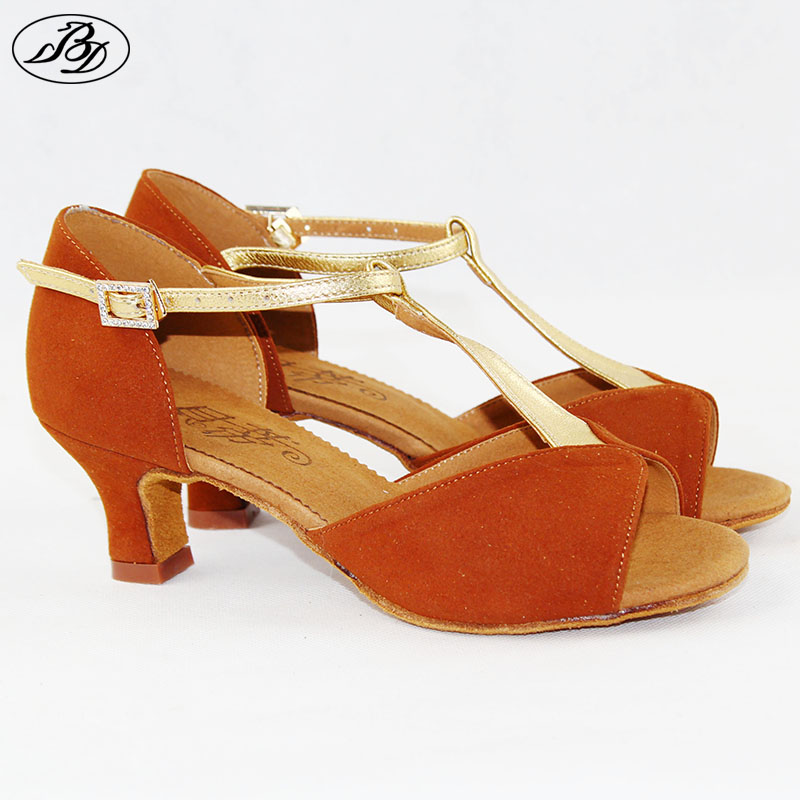 ФОТО Hot Sale BD Women latin Dance Shoes 2378 Sandal Ladies Latin Dancing Shoes High Heel T bar  Dancesport Shoes