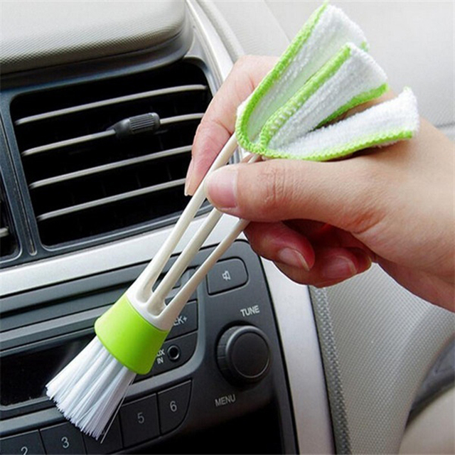 Hot Selling Cars Blinds Keyboard  Duster cleaner Both Side for Car interior accessories