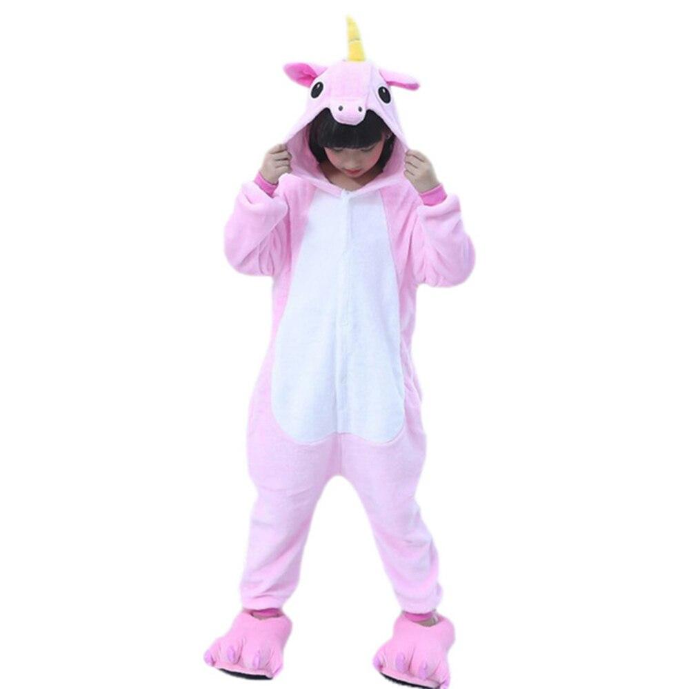 Aggressiv Kinder Mit Kapuze Tier Pyjamas Herbst Winter Kinder Nachtwäsche Jungen Mädchen Flanell Cartoon Kleidung Pijamas Für 5 7 9 11 13 Jahre Eine Hohe Bewunderung Gewinnen