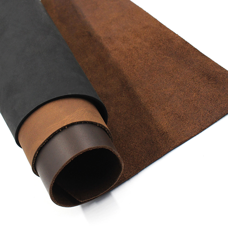 leather Vegetable Tanned Cowhide Material Fabric Piece, Genuine Leather Wallet handbag shoes DIY Leathercraft Accessories image