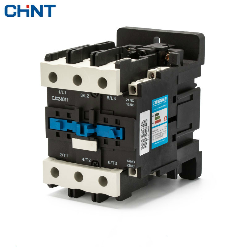 CHINT AC Contactor 80a CJX2-8011 LC1 CJX4 220V 380V 80 Security Communication Contactor cjx2 lc1 1210 25a 220v 660v ac contactor black white