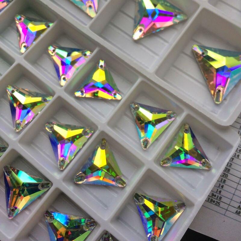 Topp 3270 Triangle 16mm 22mm Crystal AB Sy på stenglas Rynstenar - Konst, hantverk och sömnad - Foto 4