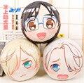NEW Original YURI!!! no GELO Victor Nikiforov Katsuki Cabeça Yuri Cosplay Plush Toy Travesseiro Almofada Presente Anime