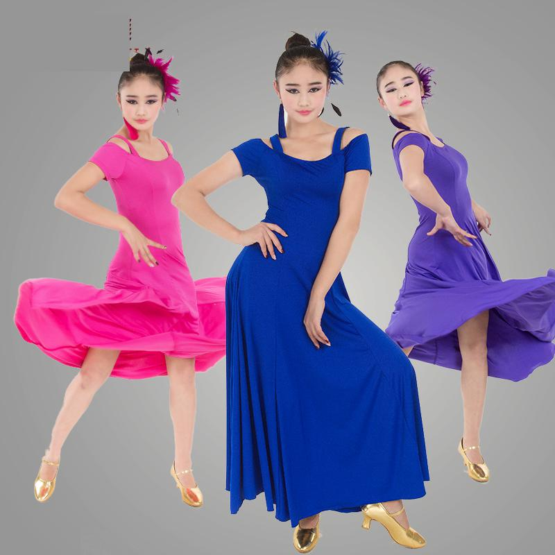 Modern Salsa Ballroom Tango Ballroom Dance Dress For Ballroom Dancing Waltz Tango Spanish Flamenco Dress Standard