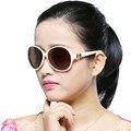 2017 Marca de Grife Óculos De Sol Mulheres Polarizada óculos de Sol Retro Moda Bowknot Big Quadro Óculos de Sol Das Senhoras Óculos de Grandes Dimensões