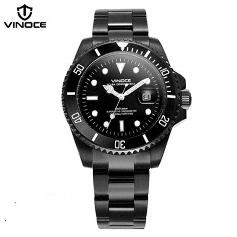 200 metrów wodoodporne zegarki nurkowe ze stali nierdzewnej sport - Męskie zegarki - Zdjęcie 4