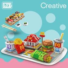 Kids Bricks Assembly-Toys Sushi-Set Building-Blocks LOZ Fast-Food Mini Creator Children