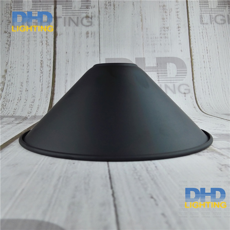 Free shipping D220mm*H65mm E27 vintage iron shade industrial style edison lamp shade DIY black iron shade for lighting