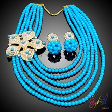 Free Shipping Yulaili Handmade Crystal Factory Flower Design Ladies Costume Two Beaded Jewelry Set