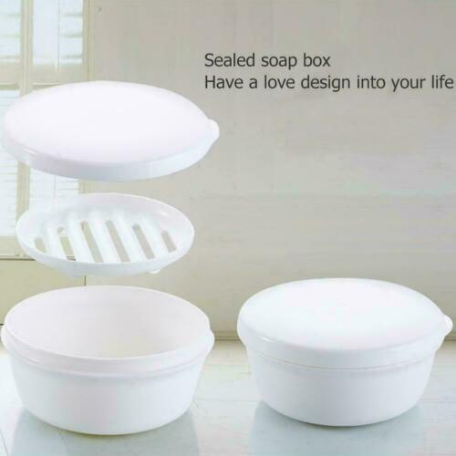 Portable Drain Layer Travel Washing Soap Box with Lid Seal Leak-proof Dish Case