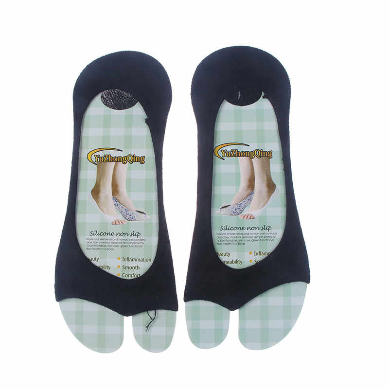 1 par de algodão boca de peixe meias dedo do pé aberto sem dedos forro boca rasa toe peep toe meias invisíveis baixo corte feliz