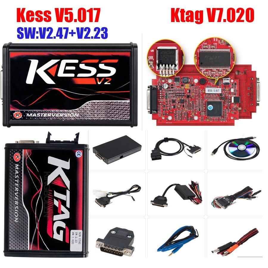Ecu-Chip-Tuning-Tool Programmer-Kess Master K-TAG Kess V2 V2.47 Full-Ktag V5.017 V2.23