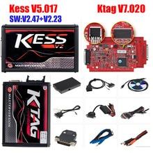 2019 KESS V2 V5.017 V2.47 Master full KTAG V7.020 V2.23 RED EU K-TAG 7.020 ECU Programmer KESS 5.017 2.47 ECU Chip Tuning Tool