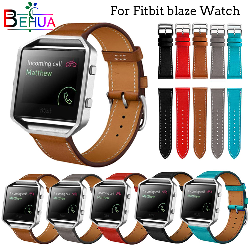 23mm High Quality Leather Watch Bands For Fitbit Blaze Smart watch Sports version Wrist Strap Replace the Luxury strap wristband fitbit watch
