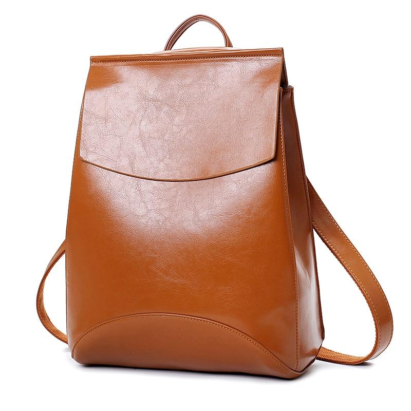 Winmax laptop Leather Backpack Women Backpacks For Teenage Girls School Bags Black Summer Brand Vintage Backpack Mochilas Mujer Ocean & Earth