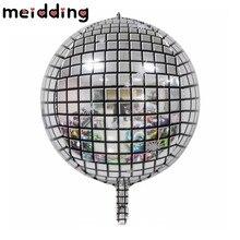 10pcs 22inch 4D Disco Aluminum Foil Balloon Helium Round Gradient Metallic Dimensional Balloon Birthday Party Wedding Decoration