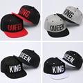 2016 new 4color KING QUEEN Snapback Hat Acrylic Couple Baseball Cap Men Women Lovers Gifts For Girl Boy Friends Hip Hip Cap