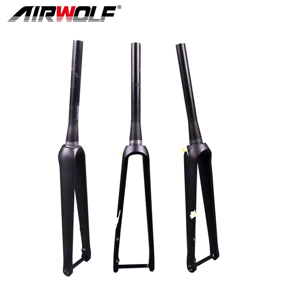 700C carbon road fork disc brake 140 160mm carbon fiber Bike fork tapered road bicycle carbon