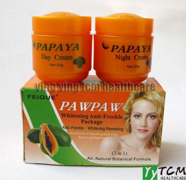Papaya Brightening Cream 6 PC - SPA SKIN CLEANSING SYTEM - PINK/PURPLE/MINT GREEN