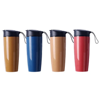 1Pcs Travel Mugs Ceramic Vacuum Cup Flasks Insulated Tumbler Coffee Auto Cups Thermos Canteen Water Bottles Drop Shipping