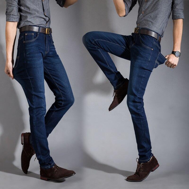 2016 New Fashion Spring&summer Skinny Jeans Men Blue Stretch Slim Pants Biker bmy9016