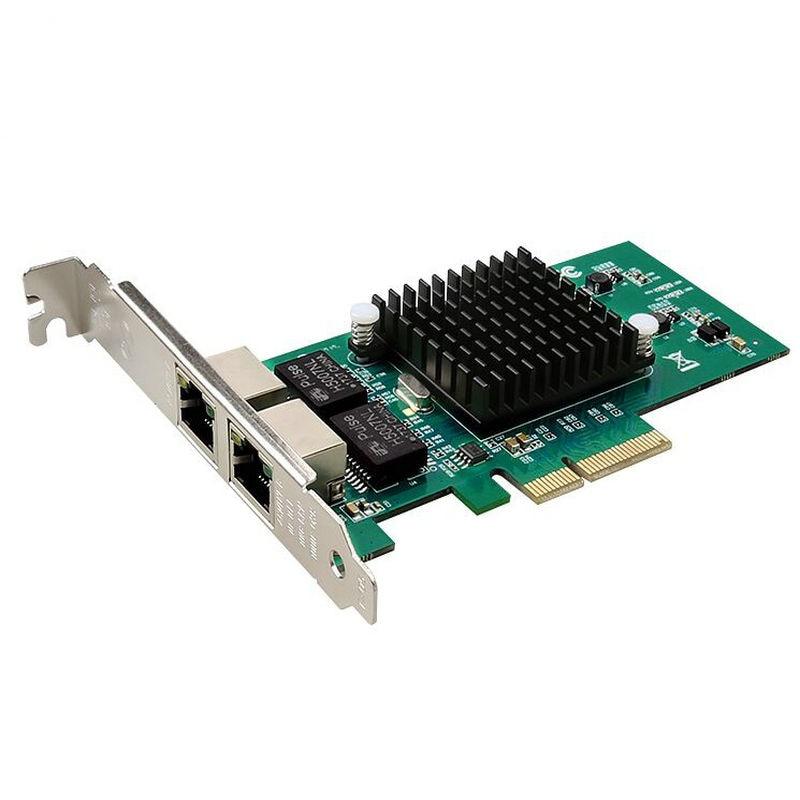 RJ45 RJ-45 Dual port 82576 PCI Express Gigabit Ethernet Server Adapter PCI-E Gigabit Ethernet E1G42ET adaptador 49y4205 49y4204 bcm 5709c pci e dual port ethernet adapter original 95