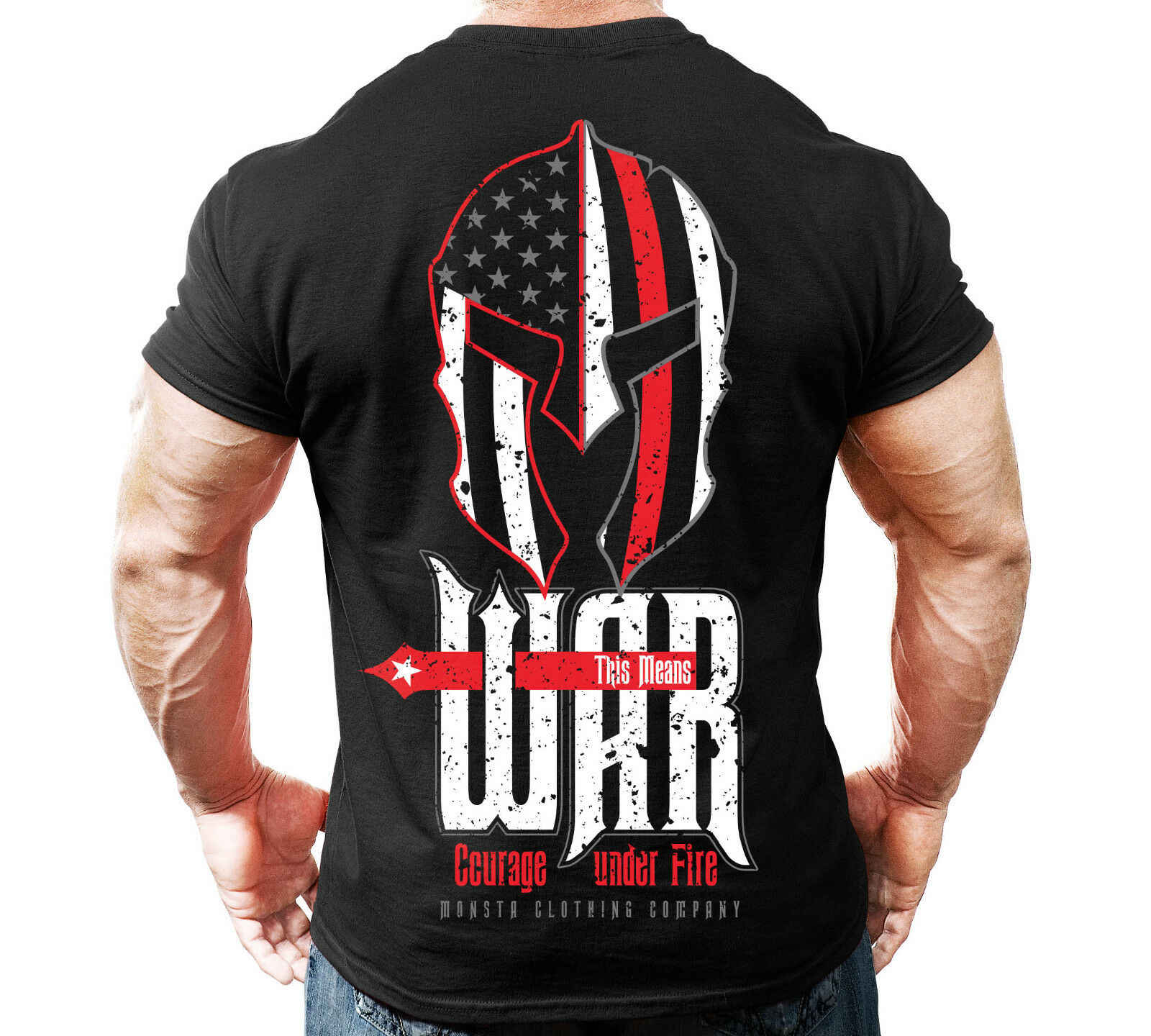 084bc16c5665 New Men's Monsta Clothing Fitness Gym T shirt This Means War ...