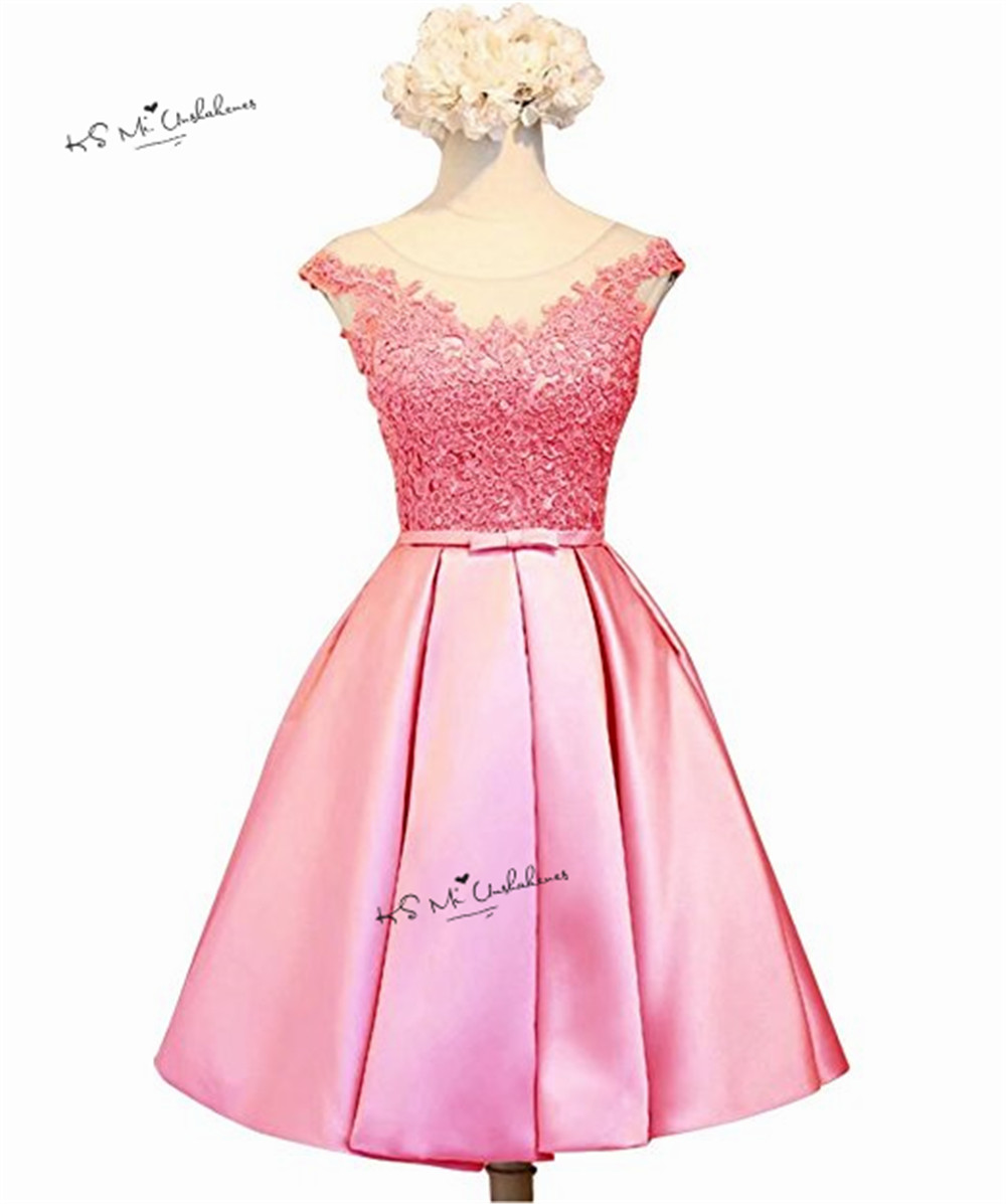 Green Pink Silver Prom Dresses Short Cheap Party Homecoming Dress ...